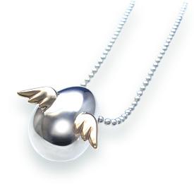 クリスマス 天使の卵 シルバー ネックレス