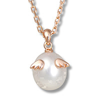 クリスマス 天使の卵 天然パール ネックレス