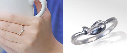 猫 ネコ 指輪